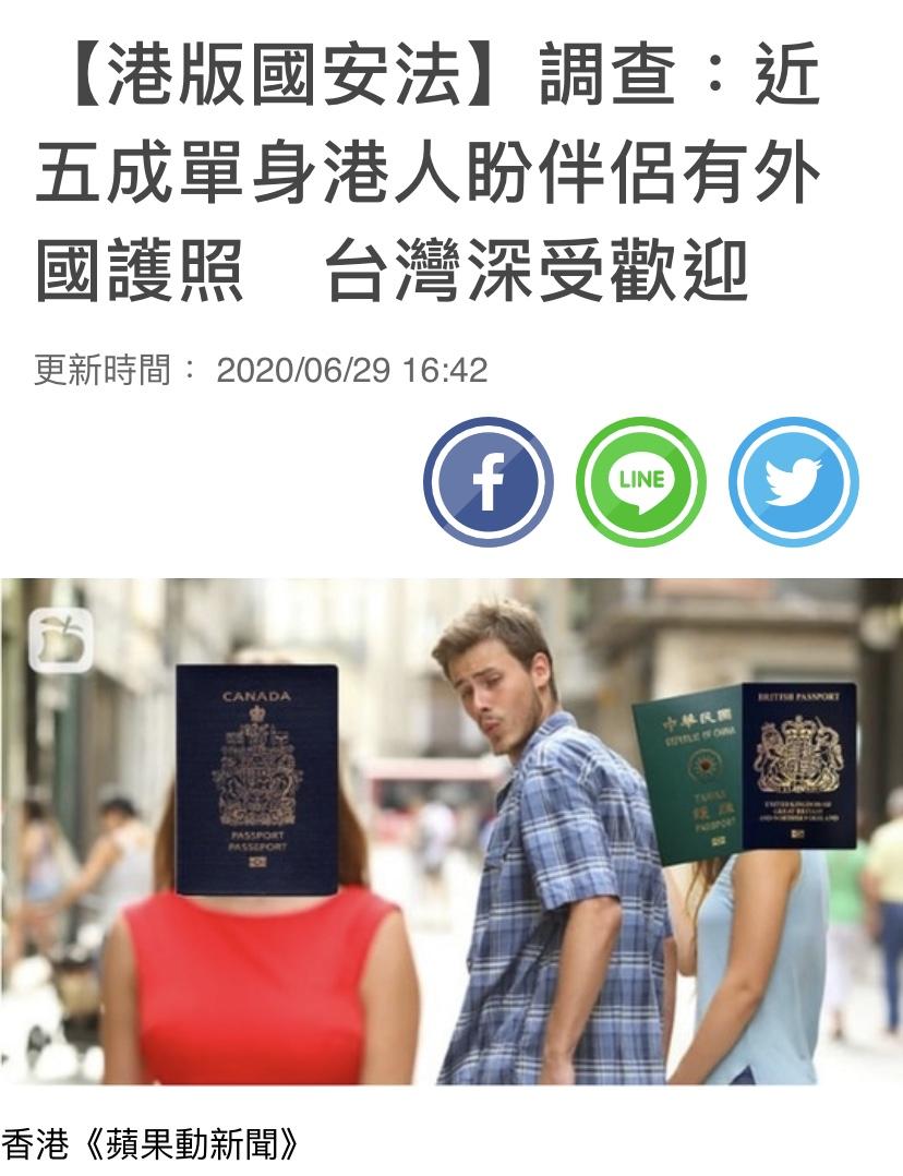 【港版國安法】調查:近五成單身港人盼伴侶有外國護照 台灣深受歡迎 香港交友約會業總會 Hong Kong Speed Dating Federation - Speed Dating , 一對一約會, 單對單約會, 約會行業, 約會配對